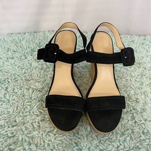 Marc Fisher Black Ankle Wedges SZ 10